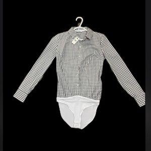 Women's express button down dress shirt collared